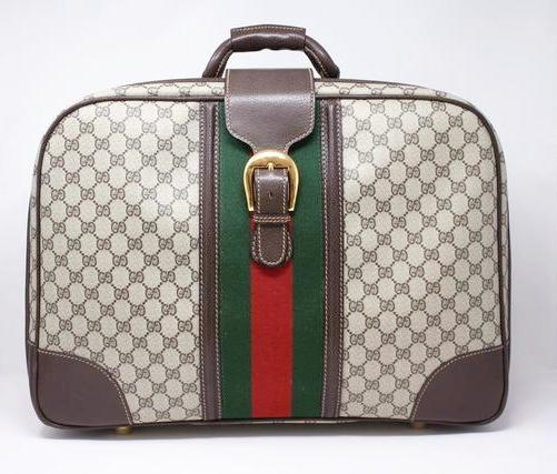 ea235854dd1 Rare Vintage 70 s GUCCI Logo Luggage at Rice and Beans Vintage