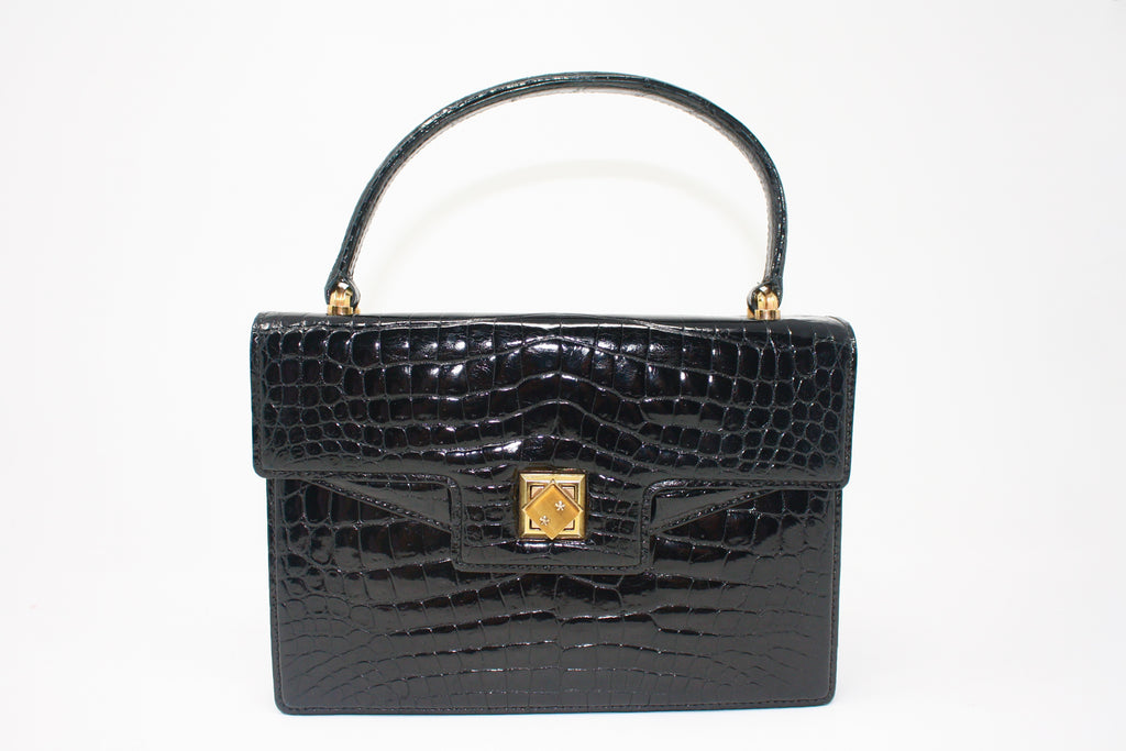 Rare Vintage 60's GUCCI Crocodile & Tiger Eye Bag