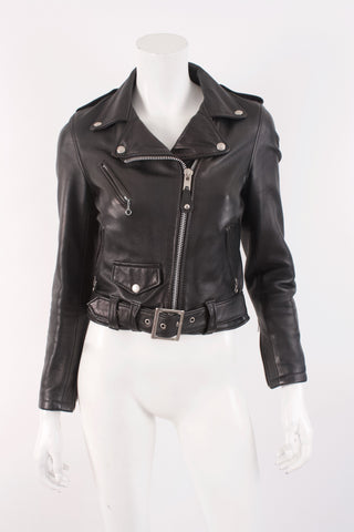"SCHOTT PERFECTO ""One Star"" Lambskin Leather Jacket"
