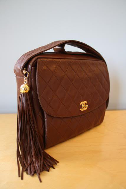 Large Brown Chanel Camera Handbag