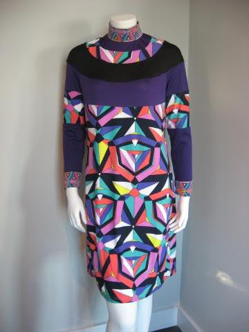 Pucci Geometric Silk Shirt Dress