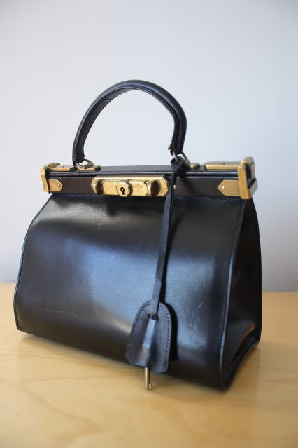 Rare 1993 Ralph Lauren Collection Kelly Handbag