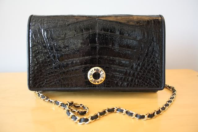 Rare Chanel Crocodile Shoulder Bag