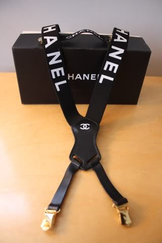 Rare Chanel Suspender and Sweater Clip Set