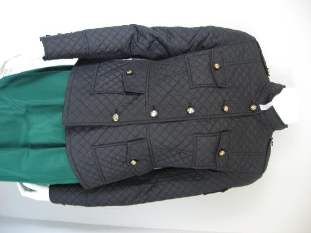 Tory Burch Black Quilted Fitted Jacket