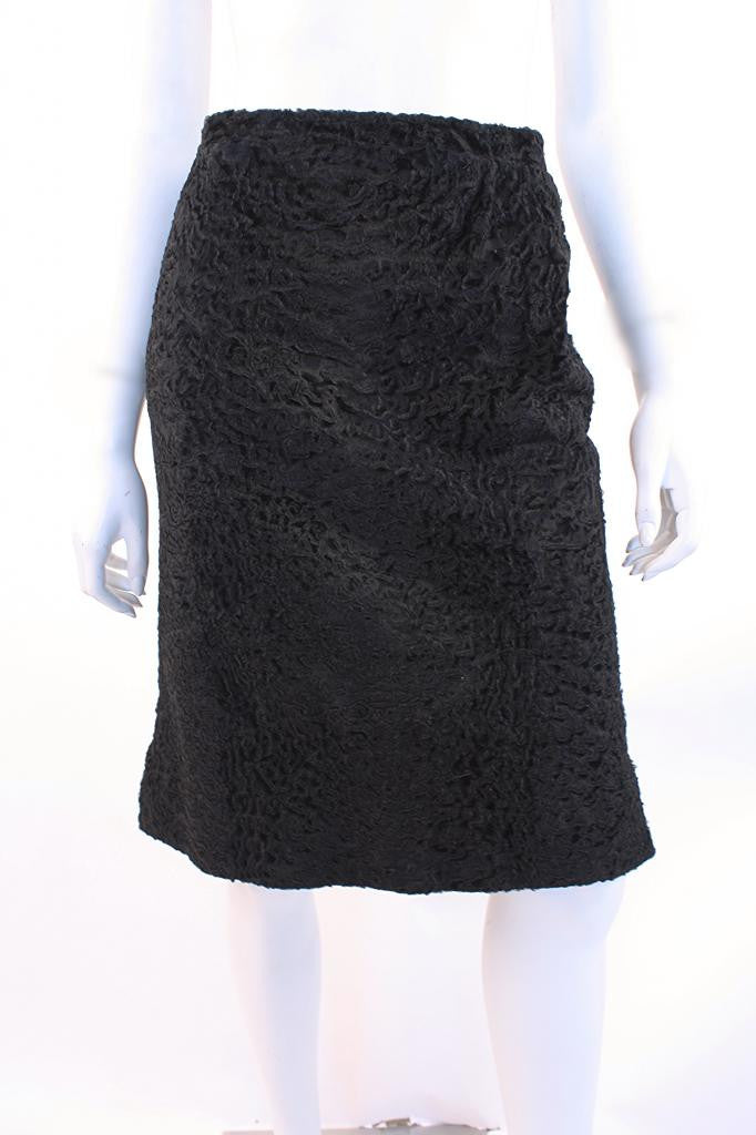 Vintage 60's Persian Lamb Fur Skirt