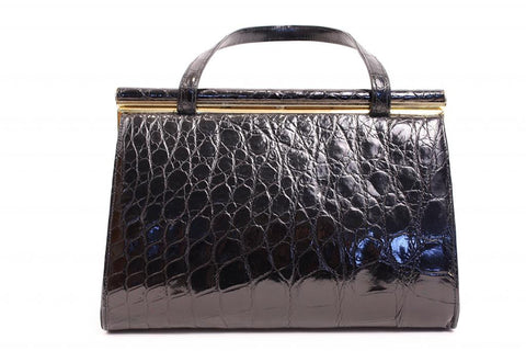 Vintage 60's LESCO Alligator Handbag