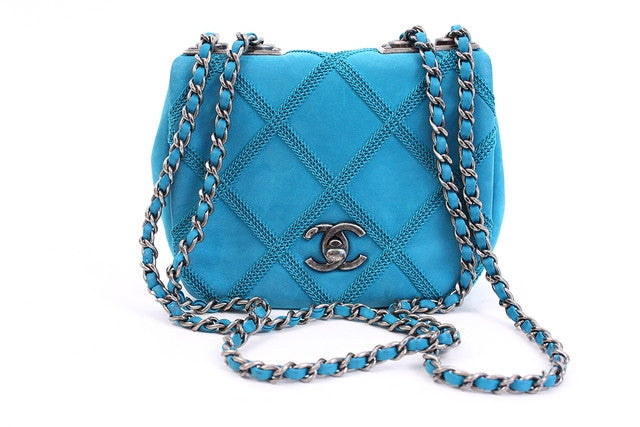 Chanel Turquoise Leather Flap Bag