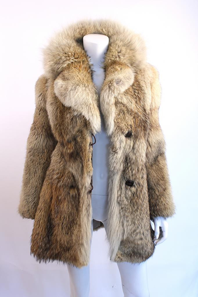 Vintage 70's Coyote fur Coat