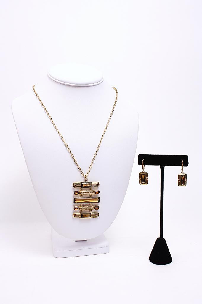 GIVENCHY Modernist Necklace & Earring Set