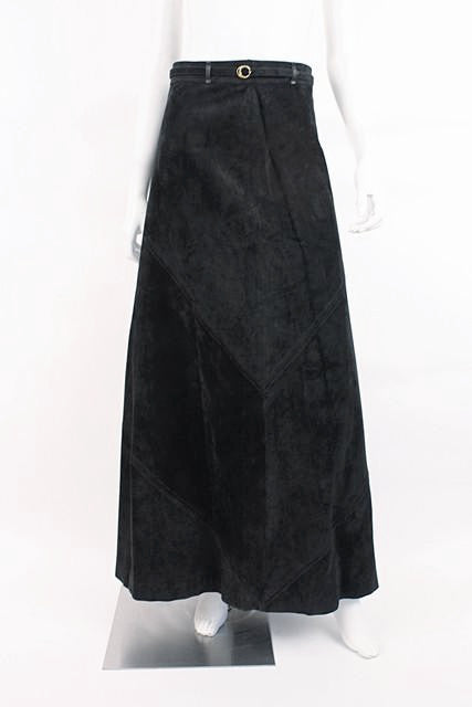 Vintage Gucci Suede Maxi Skirt