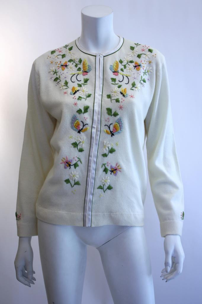 1960s Hand-Embroidered Cardigan