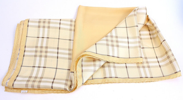 Burberry Plaid Silk Scarf
