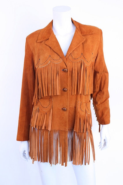 Vintage 50's Fringe Leather Jacket