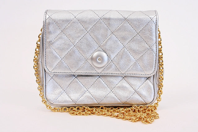 Vintage Chanel Silver mini Bag