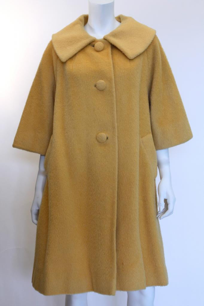 Vintage 50's LILLI ANN Yellow Coat