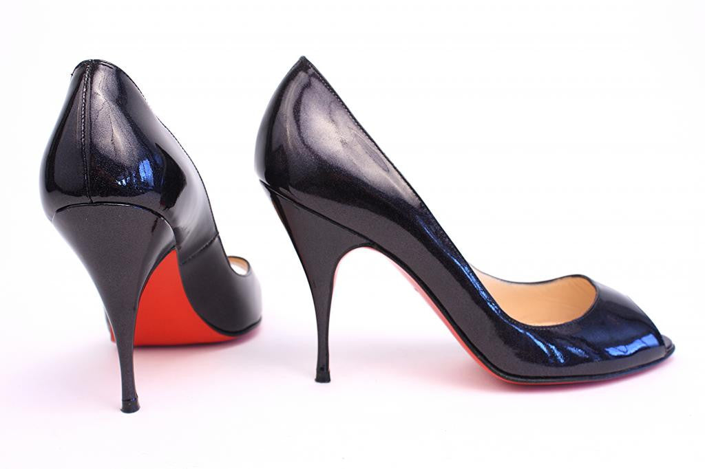 "CHRISTIAN LOUBOUTIN Black Patent Leather ""YOYO 85"" Pumps"