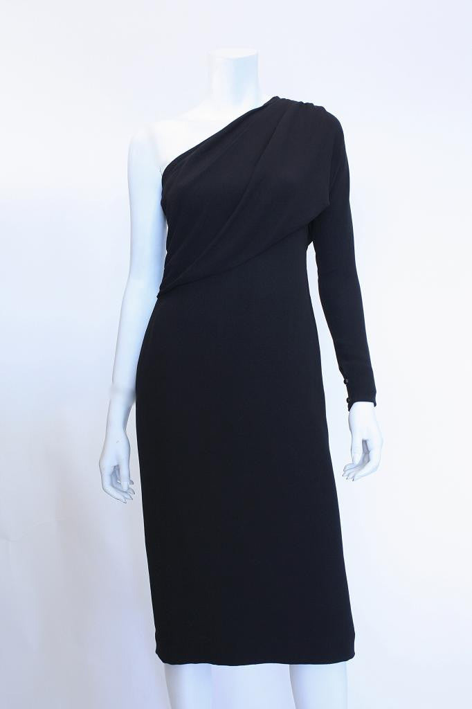 1970s GRES One-Shoulder Dress