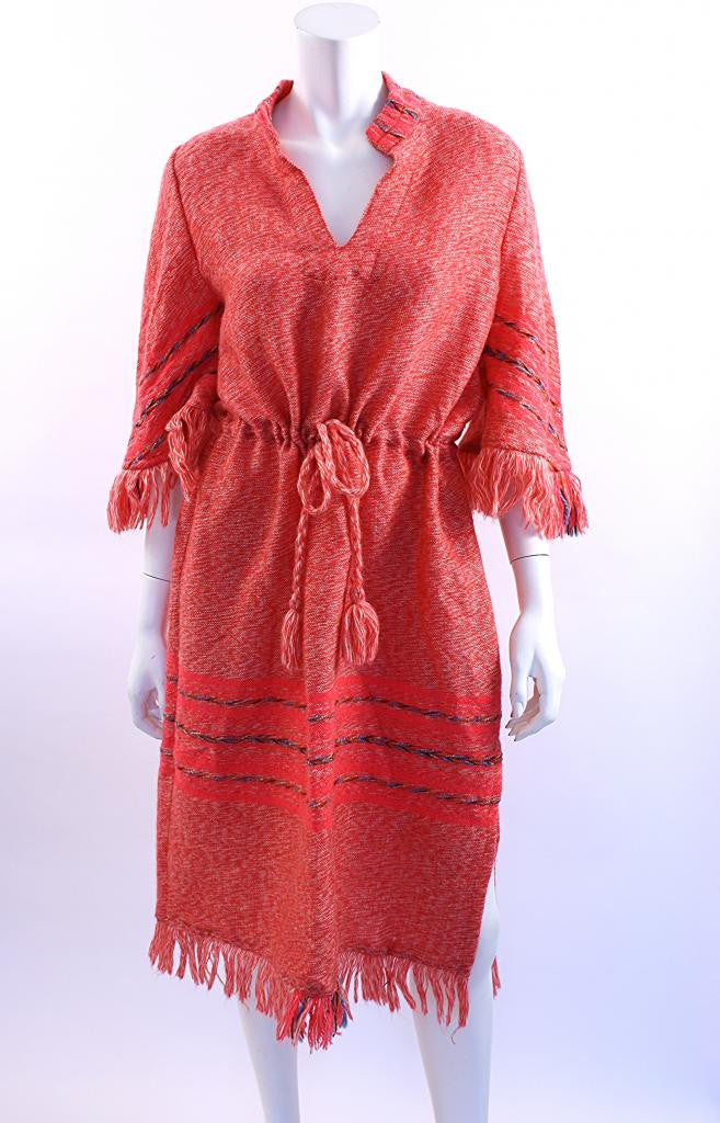 Vintage 70's Fringed Dress