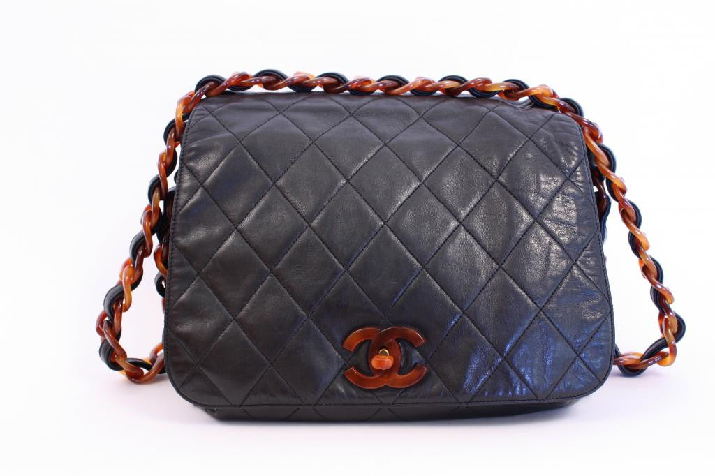 Vintage Chanel Flap Bag with Tortoise Shell