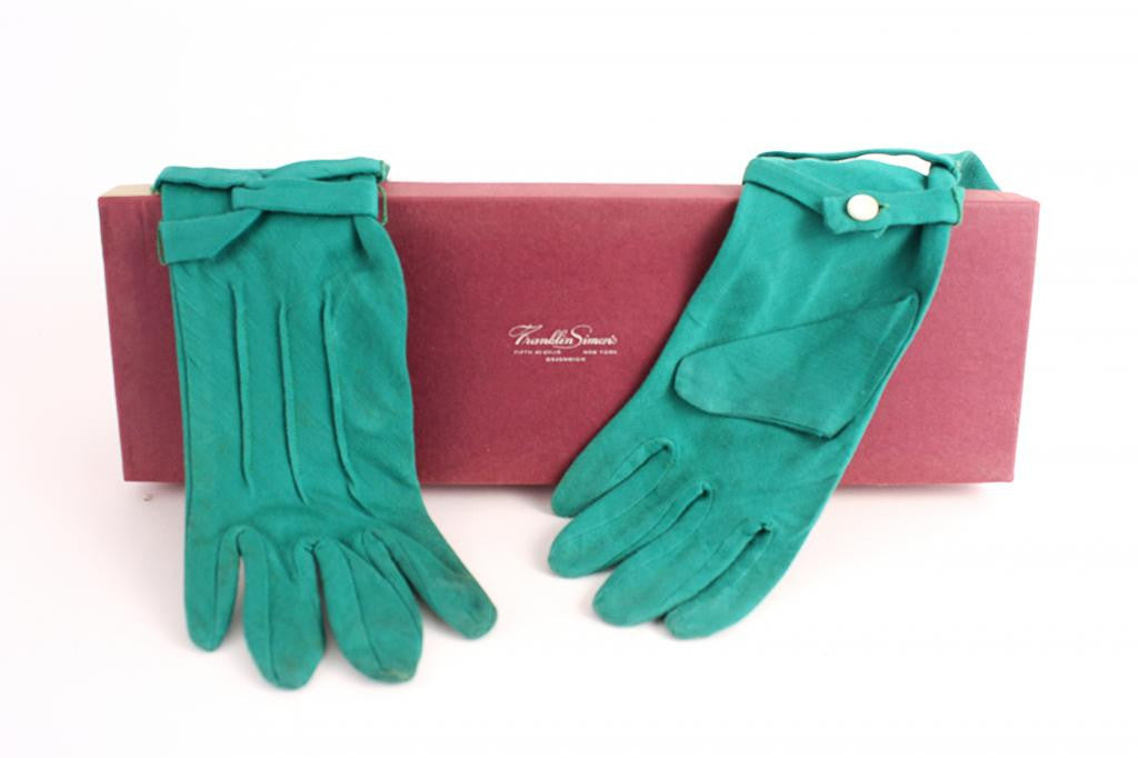 Vintage 50's Green Gloves