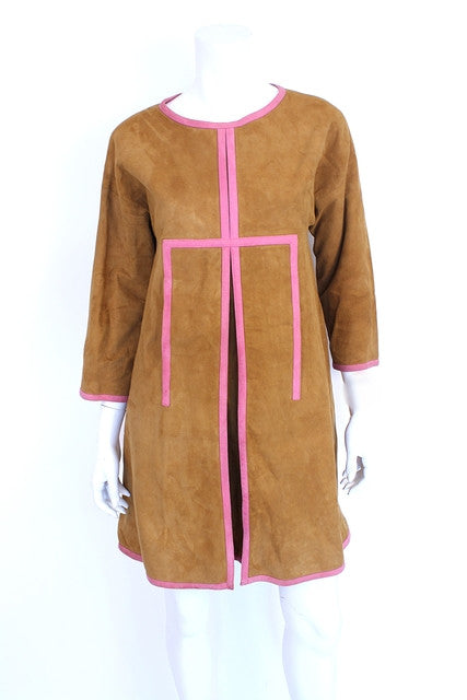 Rare Vintage 60's Bonnie Cashin Suede Dress