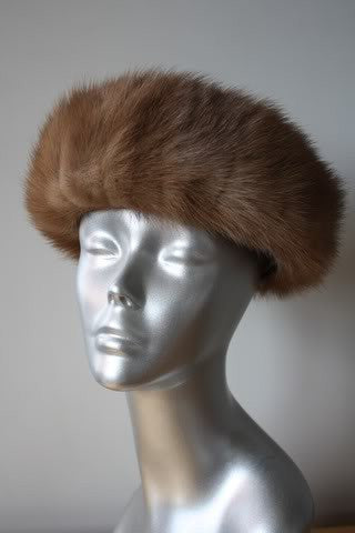 1960s LORD & TAYLOR Mink Fur Hat in Box