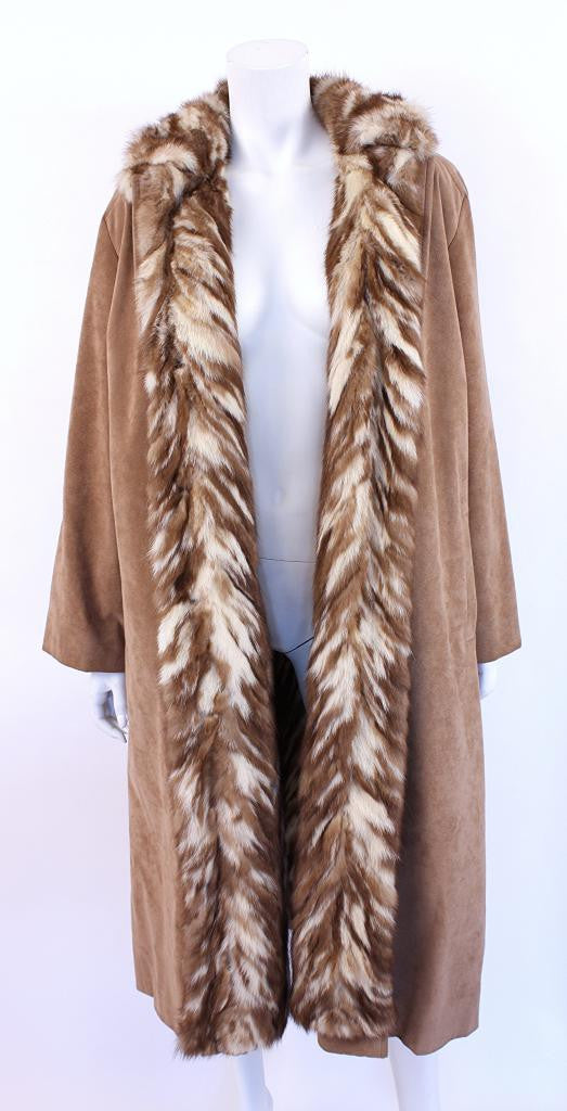 Vintage Ultra Suede & Mink Fur Coat