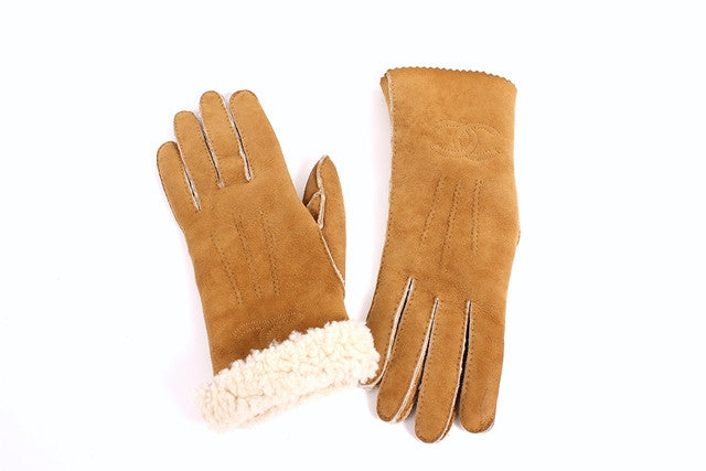 Vintage Chanel Shearling Gloves