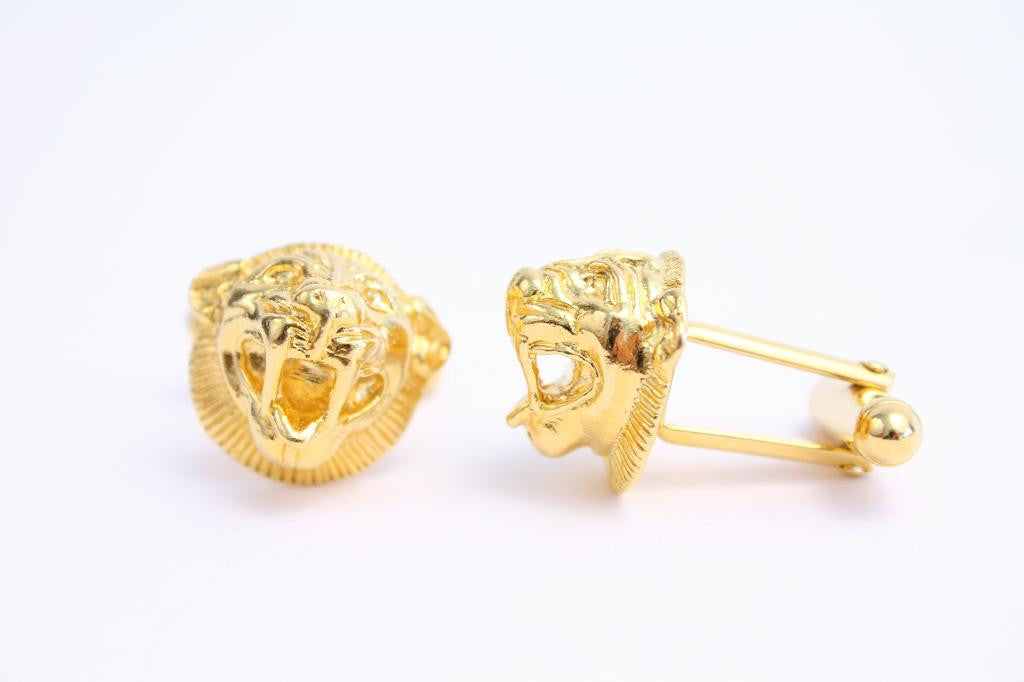 Vintage Gold Lion Cuff Links