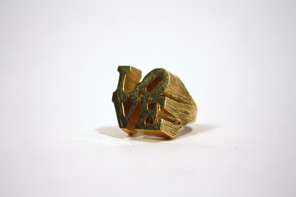 "Vintage 70's Robert Indiana Iconic ""LOVE"" Ring"