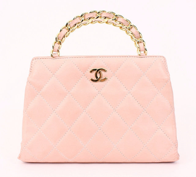 Rare Vintage CHANEL Pink Top Handle Bag