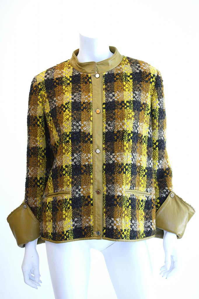 Vintage BONNIE CASHIN Plaid Boucle Jacket