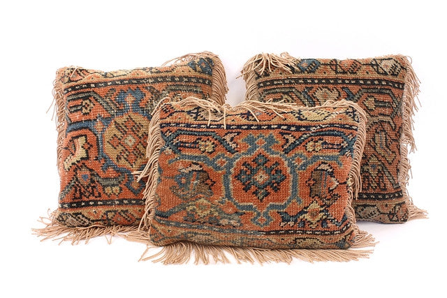 Set of 3 Antique Kilim Pillows