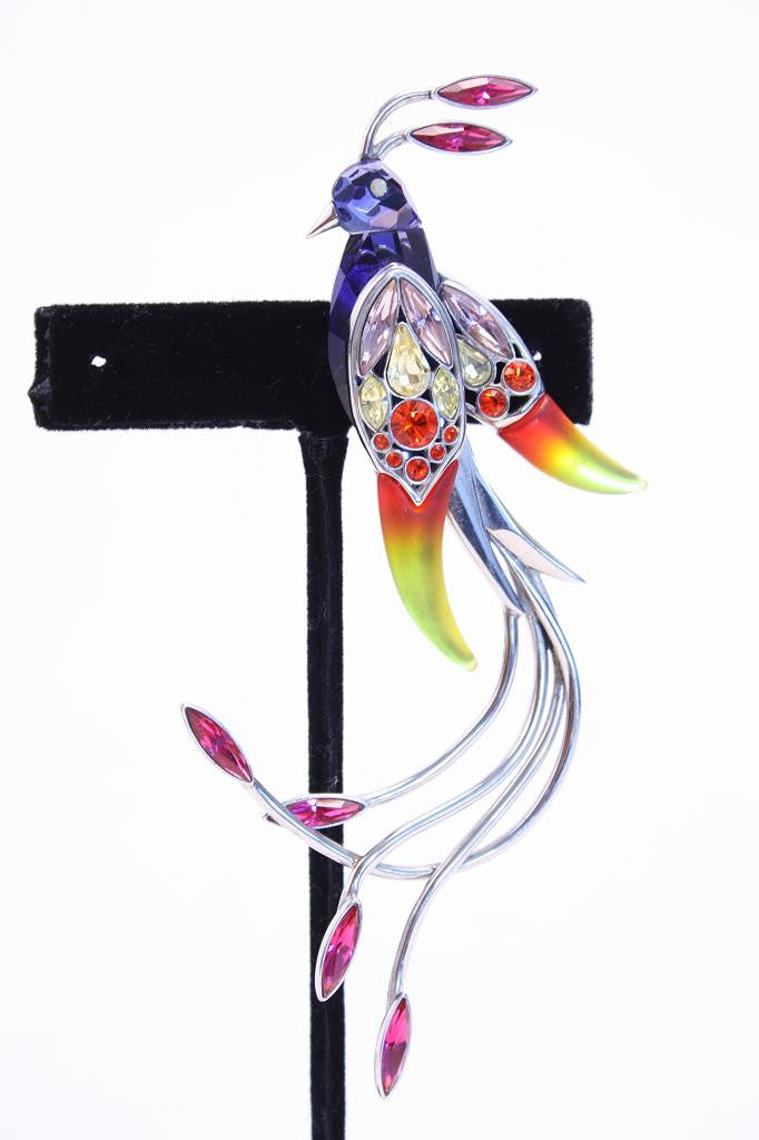 "DANIEL SWAROVSKI Sterling ""Bird of Paradise"" Brooch"