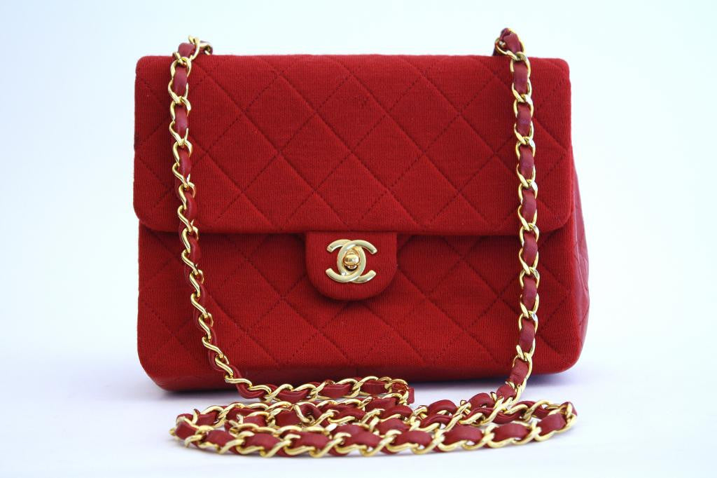 Vintage CHANEL Red Mini Flap Bag