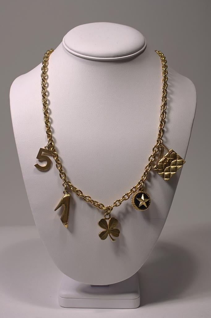 Vintage CHANEL Necklace with Chanel Icon Charms