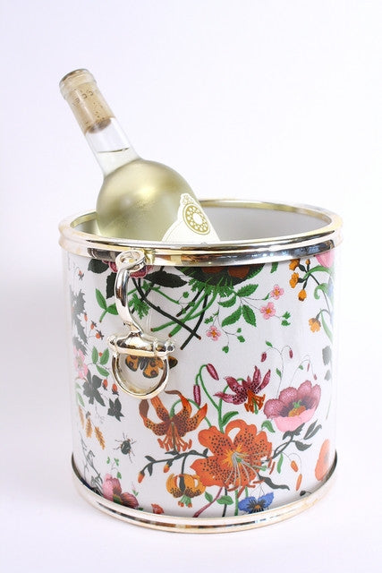 Vintage Gucci Flora & Fauna Wine Ice Bucket Cooler