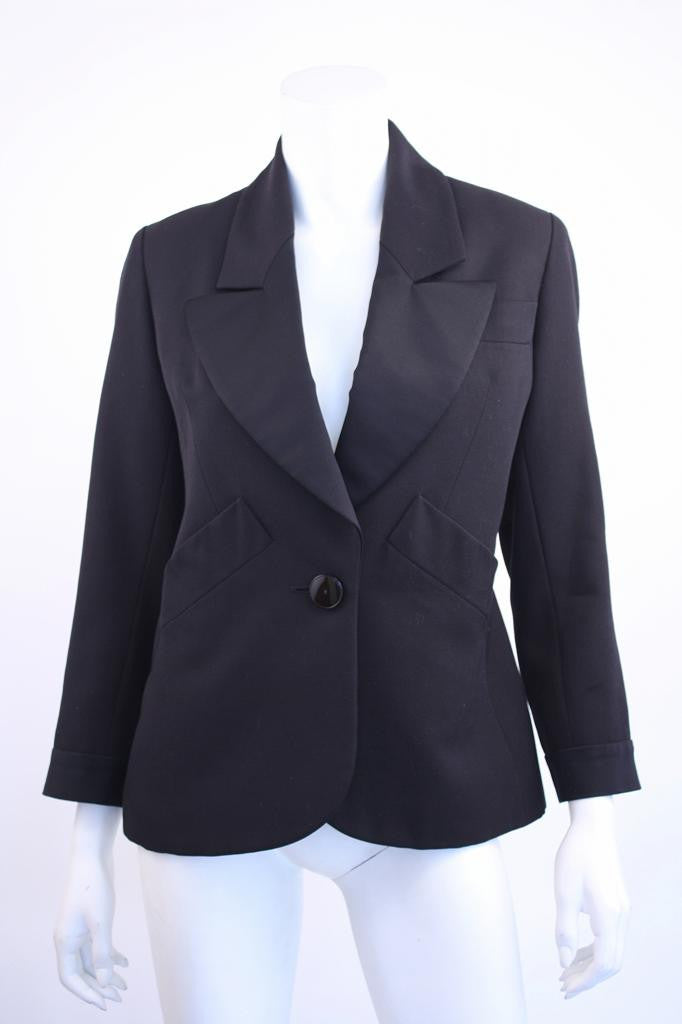 "Vintage YVES SAINT LAURENT Navy & Black ""Le Smoking"" Jacket"