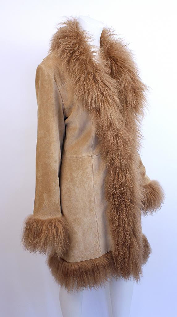 3d2014eeb9146 Mongolian Lamb Fur Coat - Vintage Mongolian Lamb Fur for Women