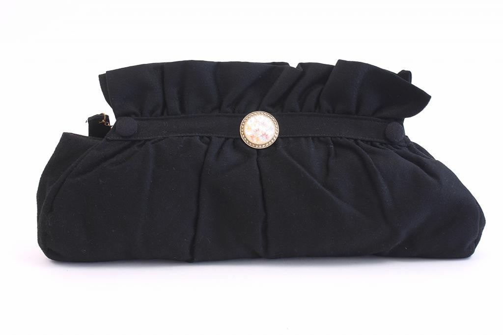 Vintage 40's Wool Clutch Handbag