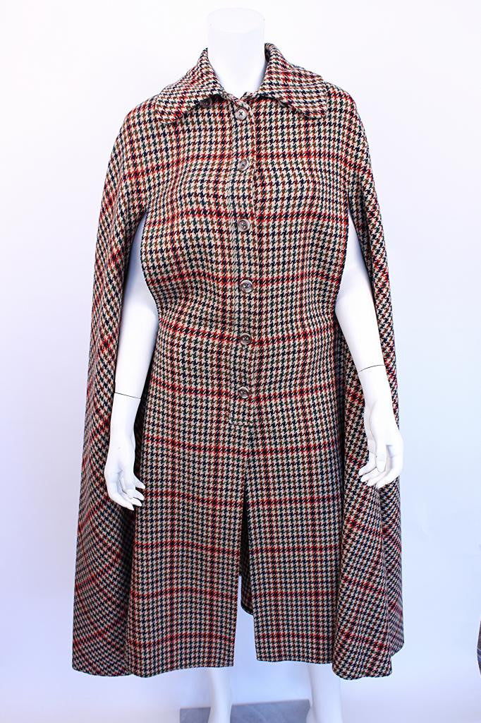 Vintage 60's Plaid Cape
