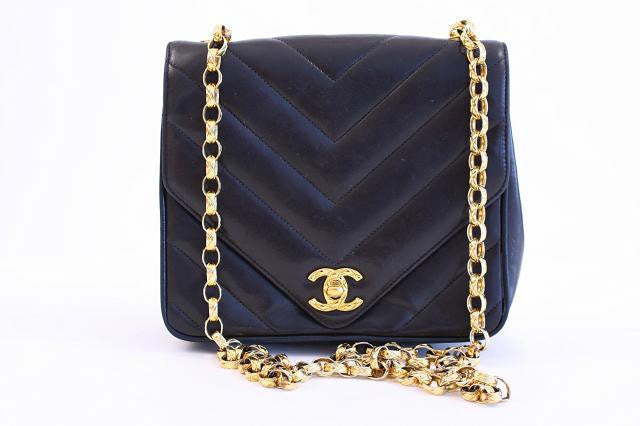 Vintage Chanel Chevron Flap Bag