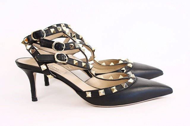 Authentic Valentino Rockstud Kitten Heels