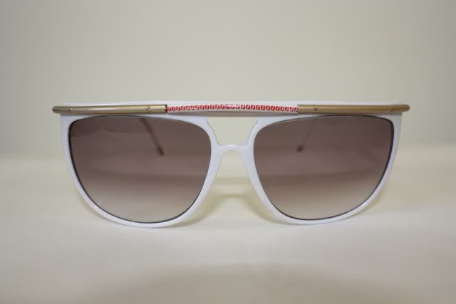Rare 1980s FENDI Sunglasses with Red FF Design