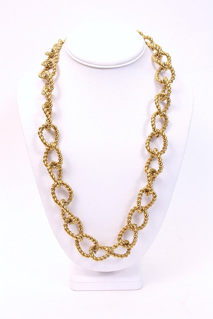 Vintage Givenchy Gold Chain Link Necklace