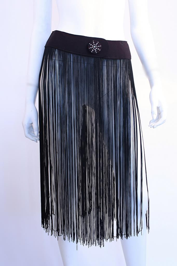 Vintage Fringe Belt with Rhinestones