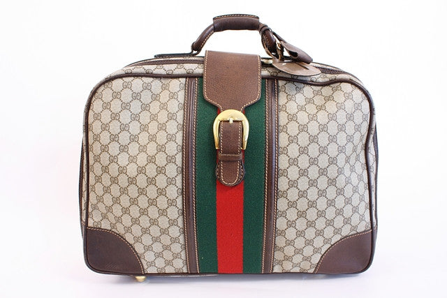 Vintage 70's Gucci Carry On Luggage Bag