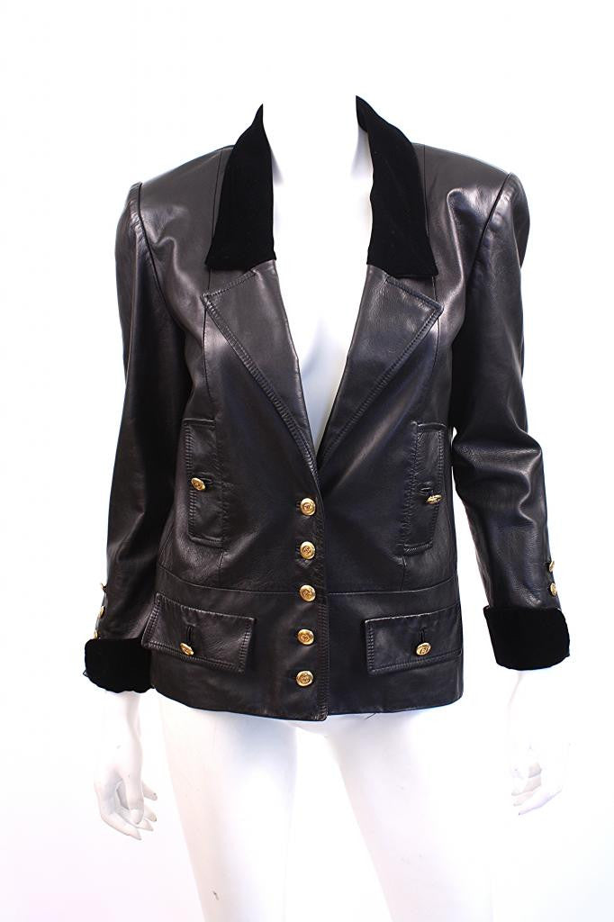 Authentic Vintage Chanel Leather Jacket