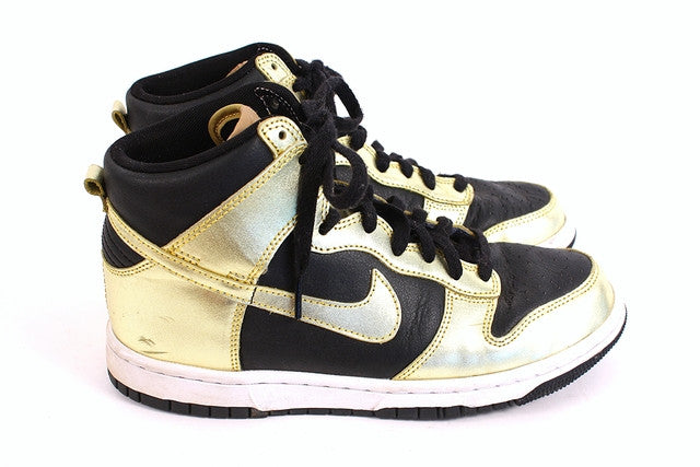 Custom Nike Dunk Gold Sneakers